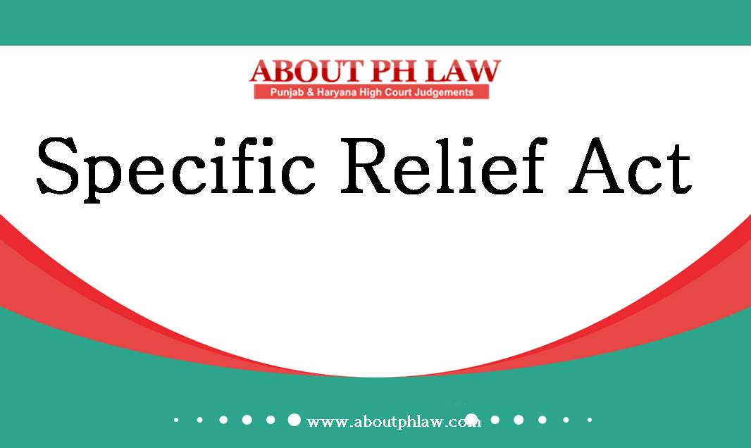 Specific Relief Act 1963 S16 Agreement To Sellspecific